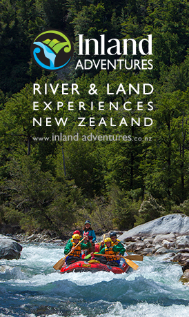 INLAND ADVENTURES West Coast near Greymouth slogan image